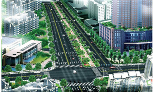 东莞常平镇社区绿道网站前西路段改造工程
