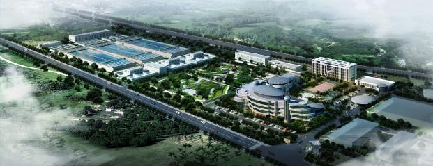 东莞市石排镇自来水公司给水厂鸟瞰图