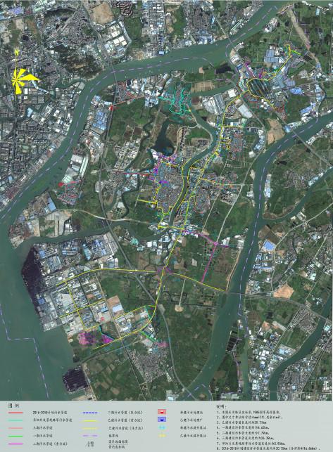 麻涌镇污水管网系统图