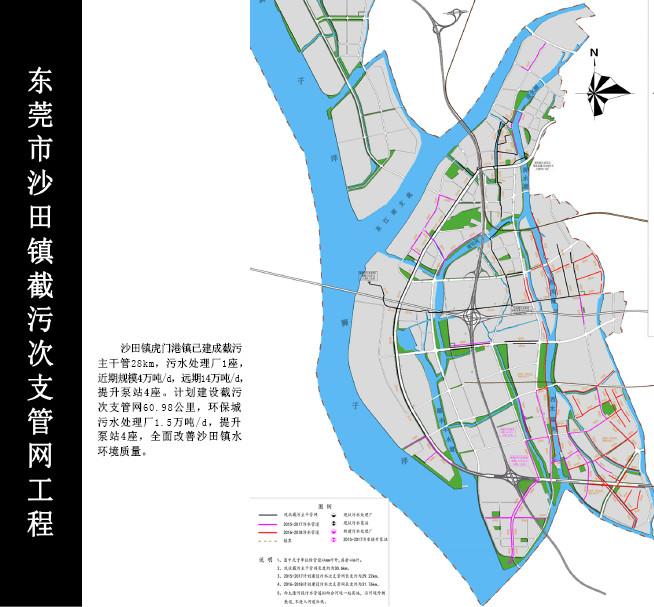 沙田镇污水管网系统图